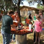 The crawfish tables