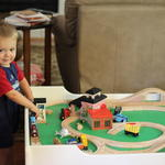 His new train table (it was a steal on craig's list)