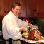 Eric carving the turkey