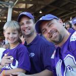 Mike, David and Blake at game